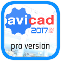 AViCAD 2017 Professional 2d/3d CAD software