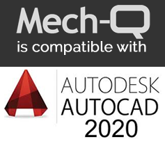 Mech-Q works with all versions of AutoCAD